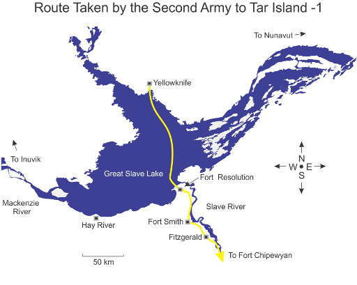 The Route of the Second Army